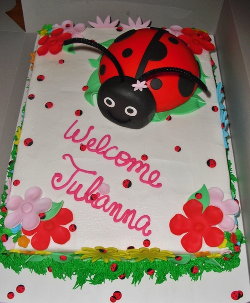 ladybug baby shower cake cakes by maureen