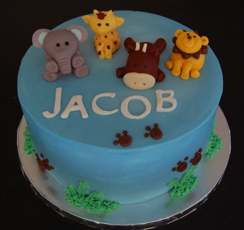 zoo themed baby shower cake for a boy sweet blessings