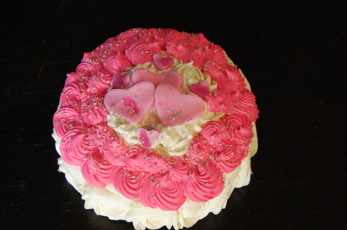 Rose frosted Happy Birthday Cake for Mother-in-Law - Sweet Blessings ...