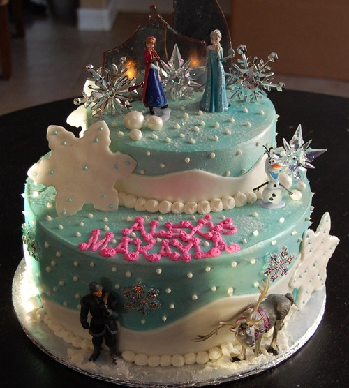how to make a frozen themed cake