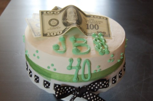 Money Themed Happy 40th Birthday Cake - Sweet Blessings...